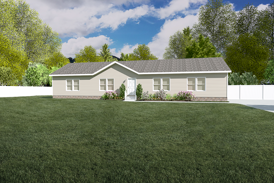 The 5582 SWEET CAROLINE Exterior. This Manufactured Mobile Home features 4 bedrooms and 2 baths.