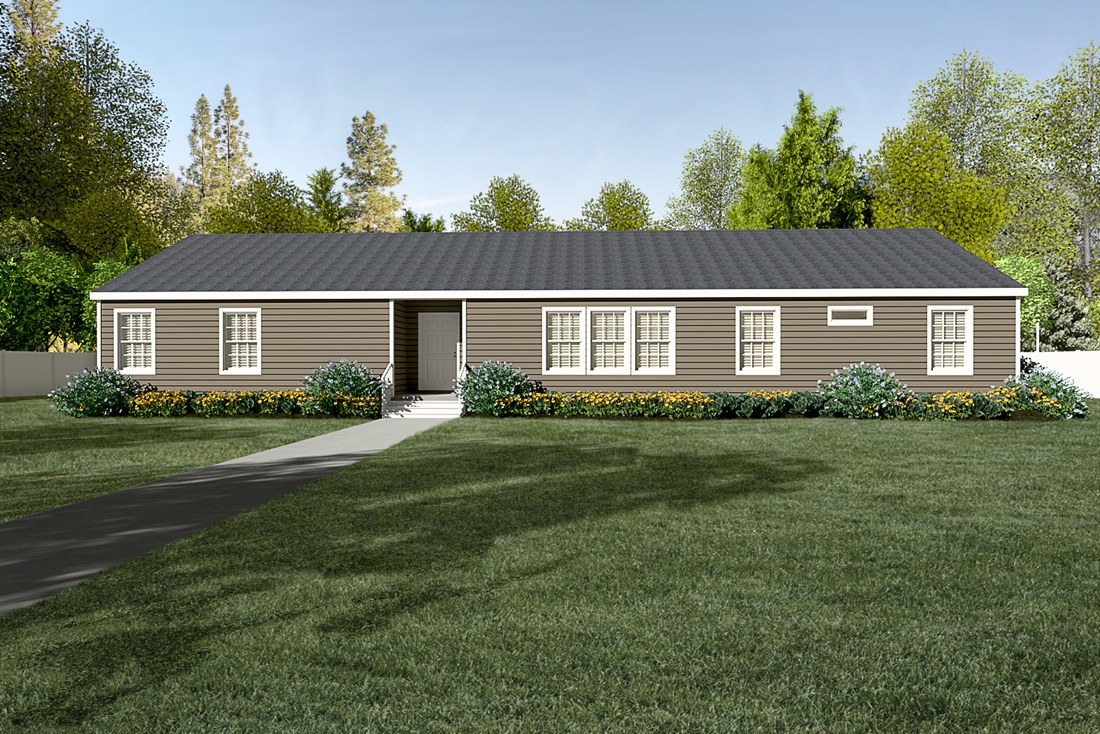 The 2085 76X32 CK4+2 HERITAGE Exterior. This Manufactured Mobile Home features 4 bedrooms and 2 baths.