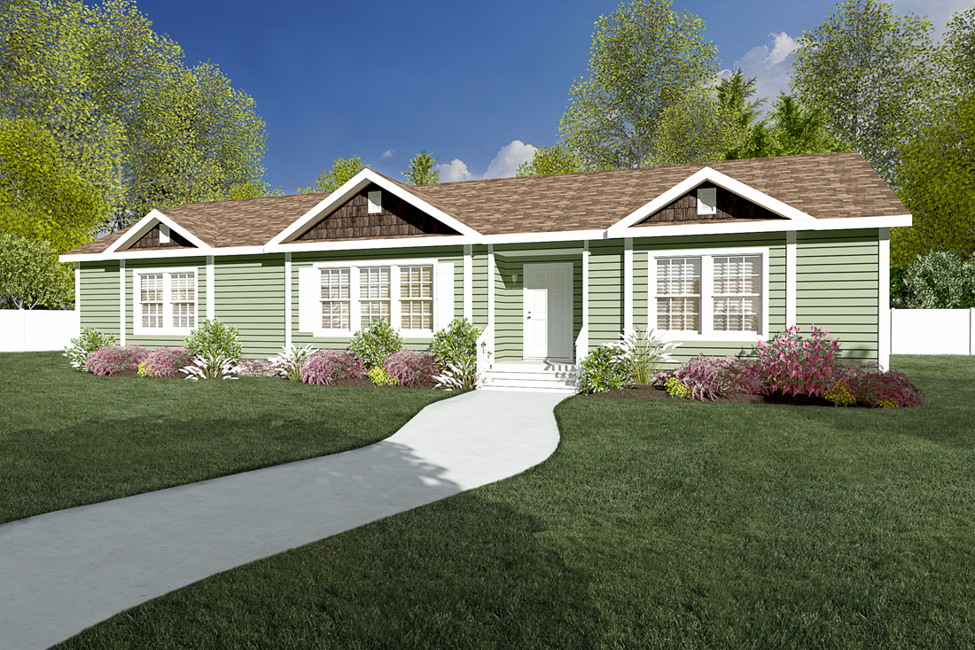 The 2088 HERITAGE Upgrade Exterior. This Manufactured Mobile Home features 3 bedrooms and 2 baths.