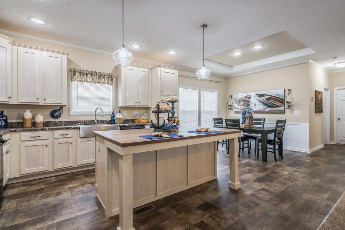 The 2088 HERITAGE Kitchen. This Manufactured Mobile Home features 3 bedrooms and 2 baths.