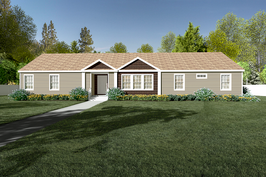 The 2485 76X32 CK4+2 HERITAGE MOD Exterior. This Manufactured Mobile Home features 4 bedrooms and 2 baths.