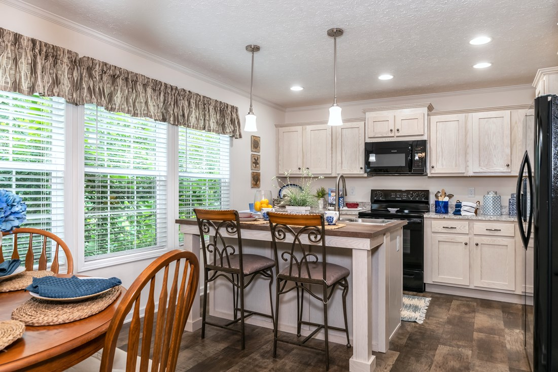 The 2467 HERITAGE Kitchen. This Modular Home features 3 bedrooms and 2 baths.
