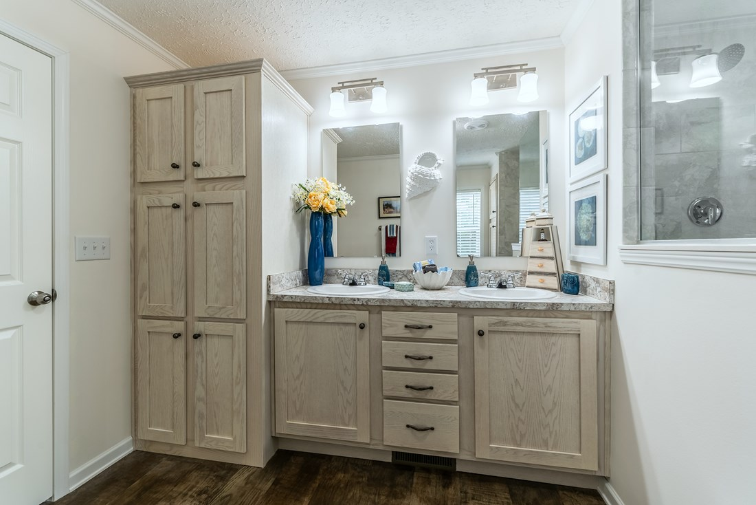 The 2467 HERITAGE Master Bathroom. This Modular Home features 3 bedrooms and 2 baths.
